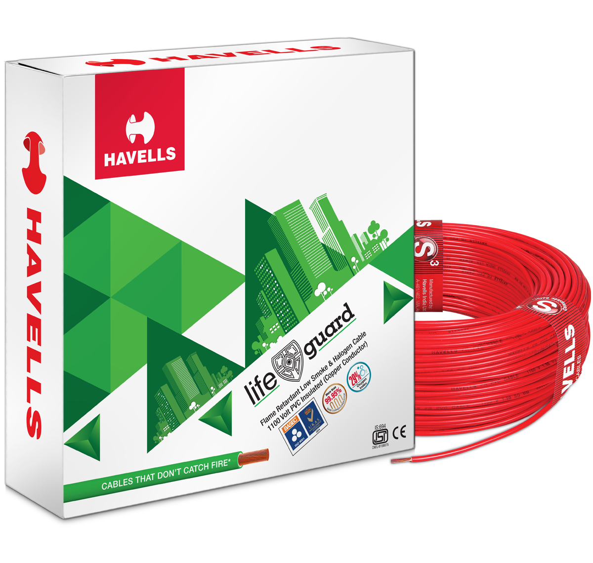 Life Guard FR-LSH Cables (Red)
