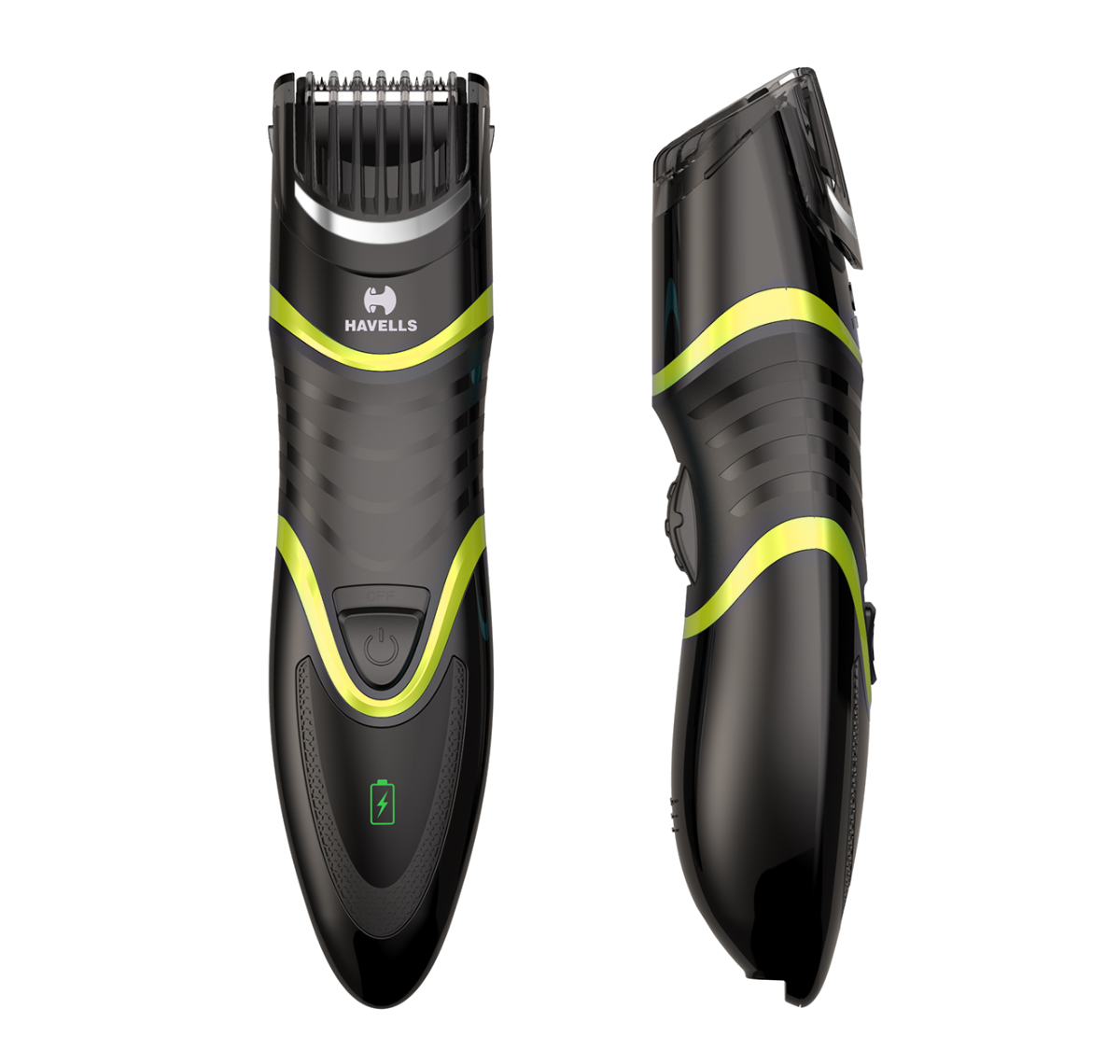 Quick Charge Zoom Wheel Beard Trimmer (Black/Green)
