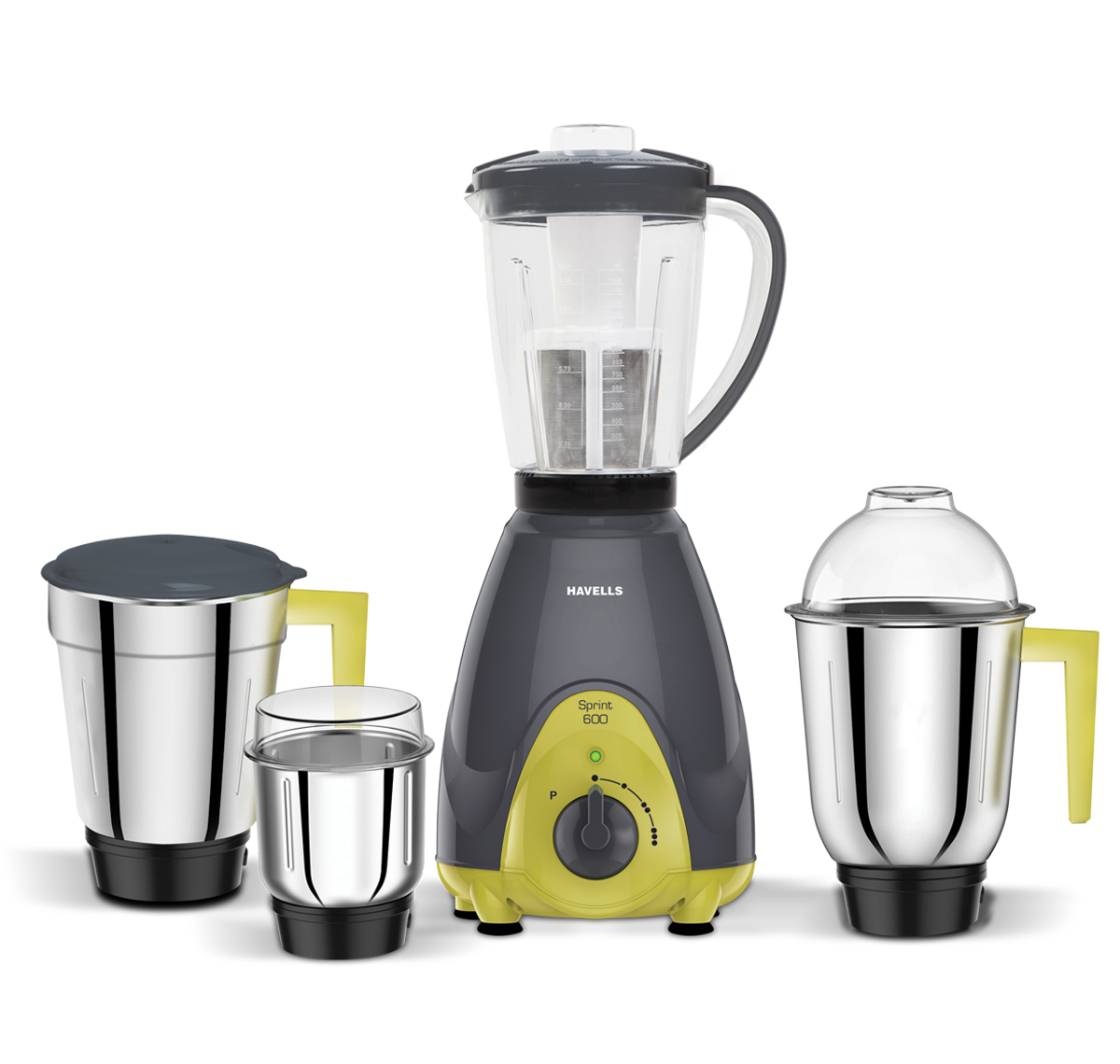 SPRINT MIXER GRINDER 4 JAR GREY 600 W