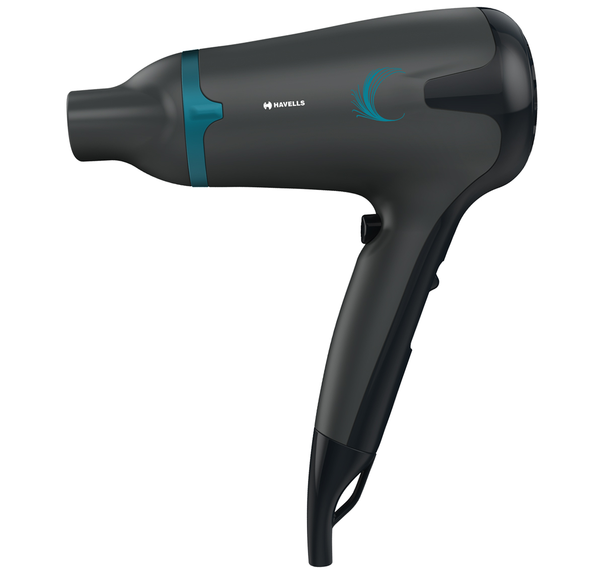 2-in-1 Hair Dryer with Diffuser and Thin Concentrator (Black)