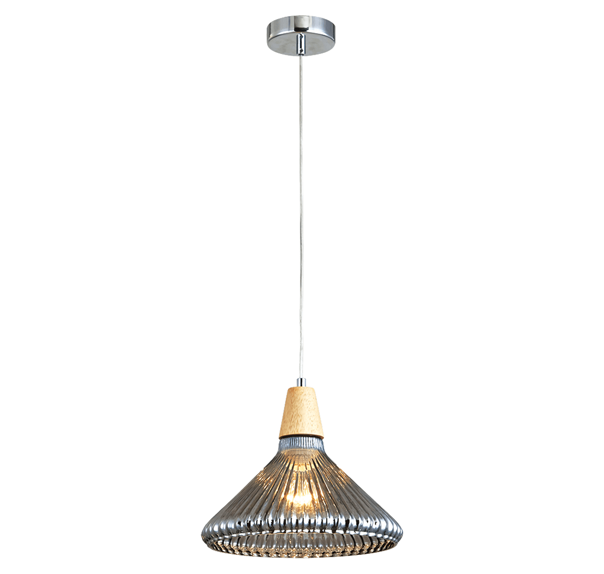 Crystine Pendant 1LS E27 D280 CGN+WD