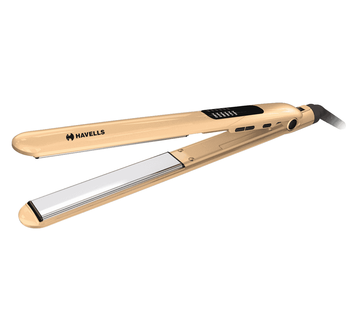 Hair Straightener with Titanium Coated Plates (Golden)