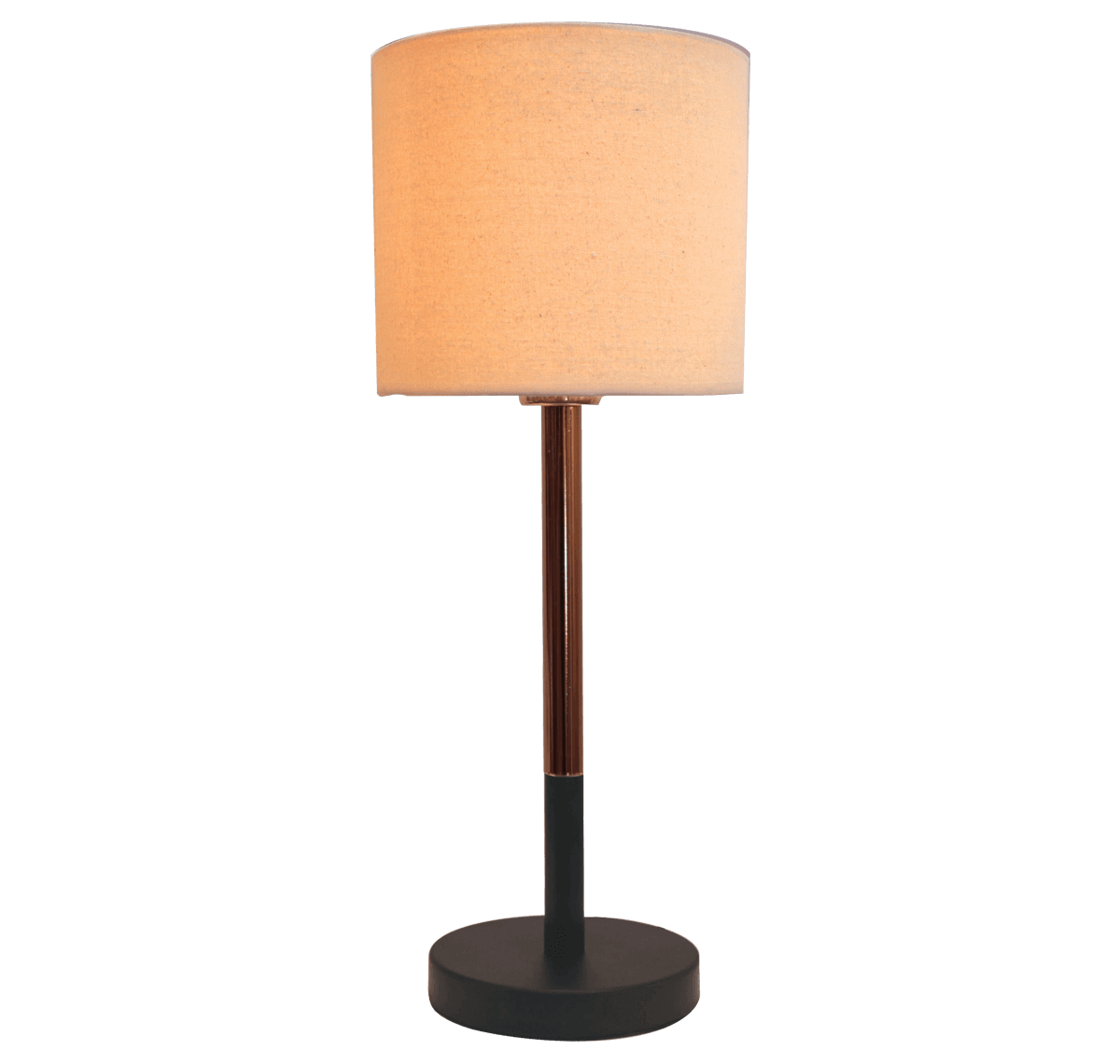 Metallo Table Lamp TC Fabric Shade Cup