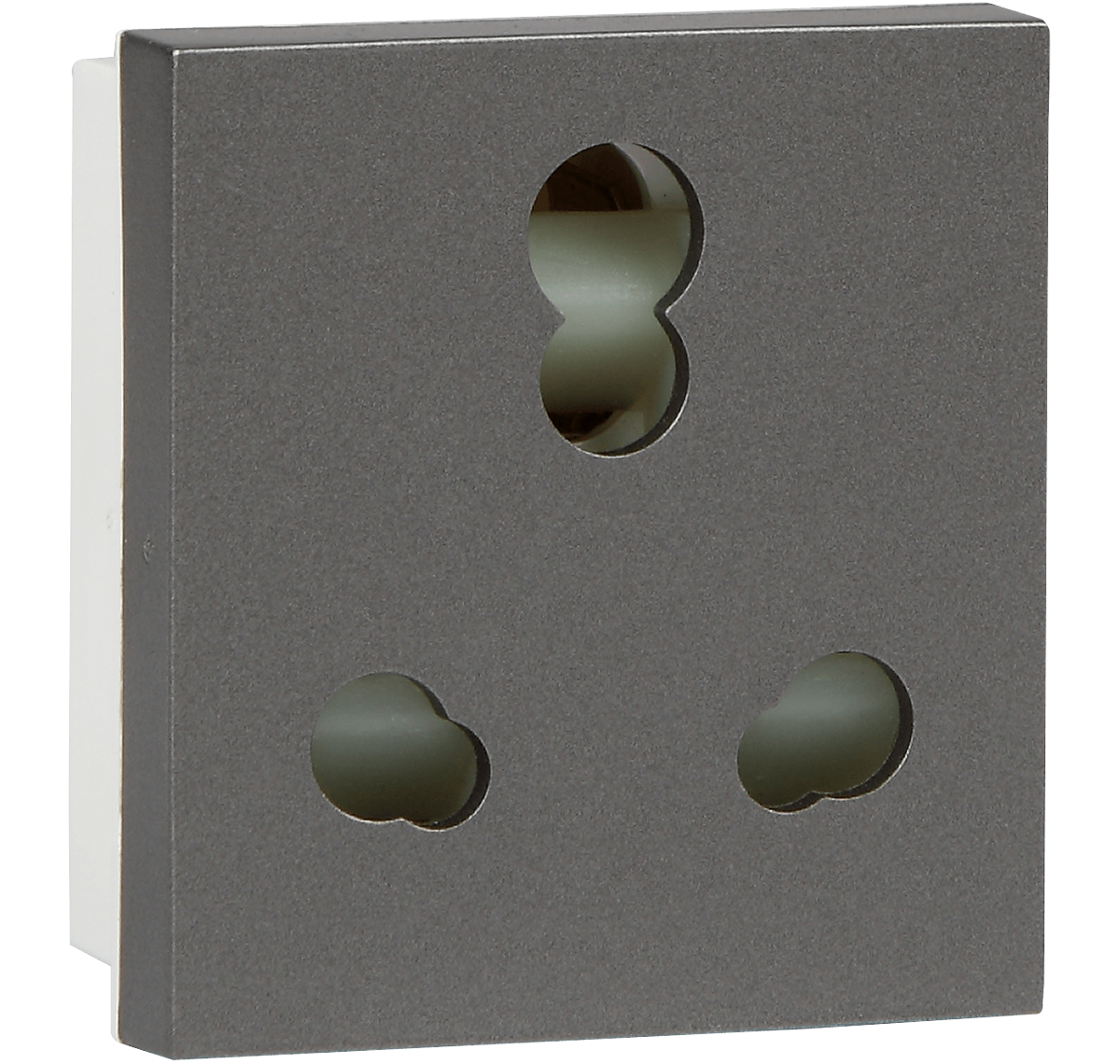 6/16A 3 PIN COMBINED SOCKET ORO M GREY