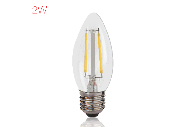 BrightFill LED Filament Candle - 2 W
