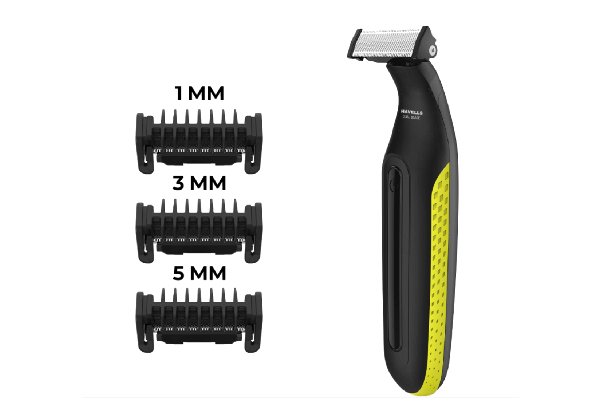 Shimmer with 3 Trimming Combs (Black & Yellow)