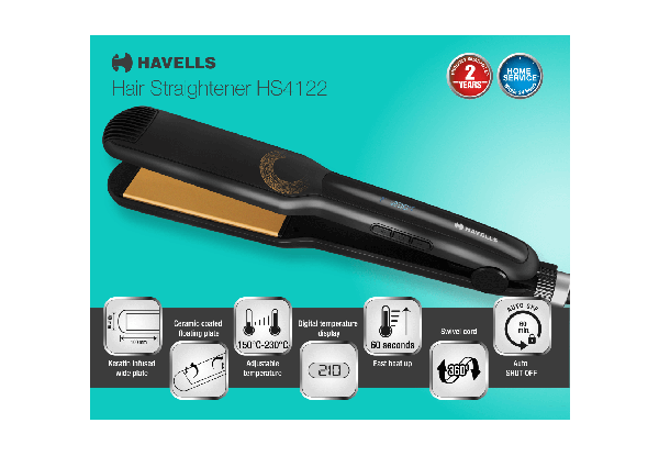 HS4122 - Keratin Infused Wide Plates and Temperature Control Hair Straightener