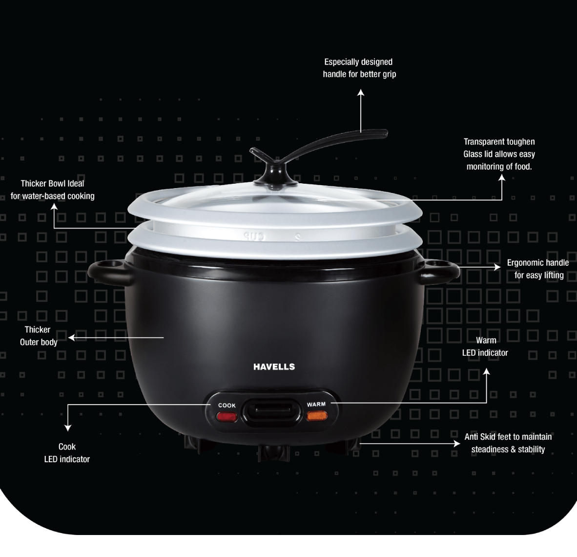 X press Cook 1.8 L 2 bowl