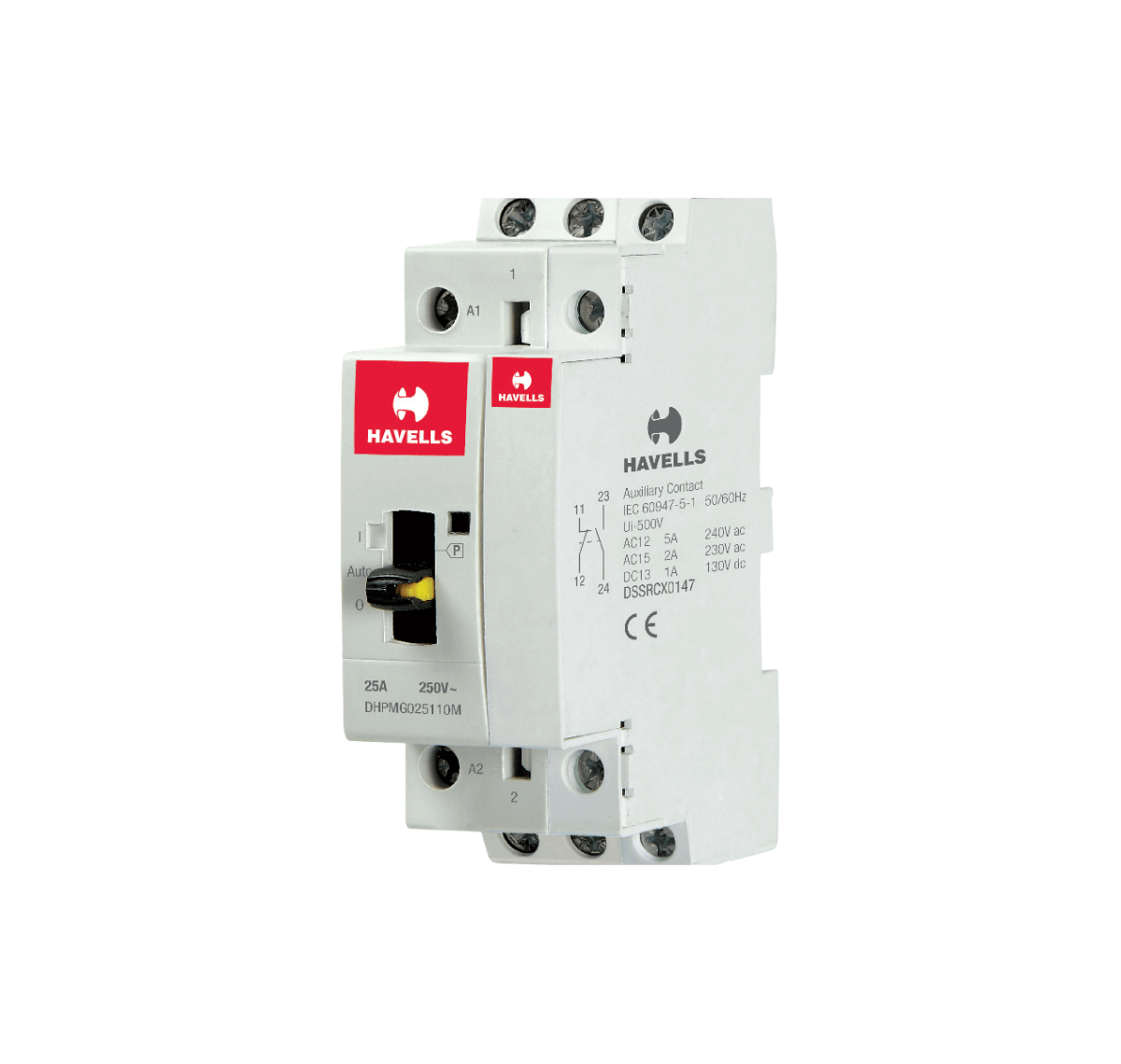 Automatic Modular Contactors with Manual Override